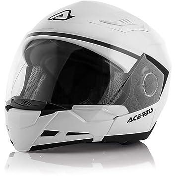 Casco Moto Desmontable Acerbis Stratos 2.0 Doble Abe blanco brillante Extra Extra Large
