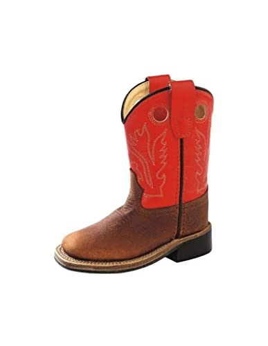a3c2041cd29 Amazon.com: Old West Toddler-Boys' Orange Cowboy Boot Square Toe ...
