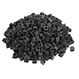uxcell 16mmx16mm Plastic Square Tube Pipe Inserts End Blanking Caps Black 500pcs
