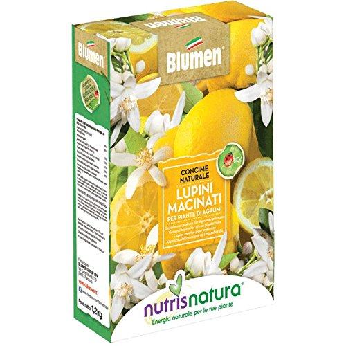 Concime biologico vegetale lupini macinati per piante agrumi fertilizzante 1kg Blumen