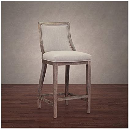 Outstanding Amazon Com Park Avenue 555 Beige Linen Upholstered Counter Gmtry Best Dining Table And Chair Ideas Images Gmtryco