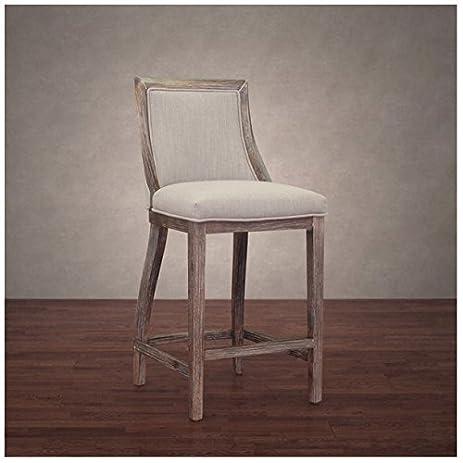 555 park avenue beige linen upholstered counter stool