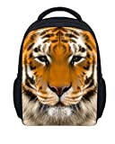 Wild Tiger Print Mini Kids Backpack Durable Animal Toddler Preschool Daypack KBP-6912F