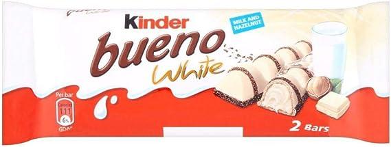 Kinder Bueno White - Barrita de chocolate blanco con crema de ...
