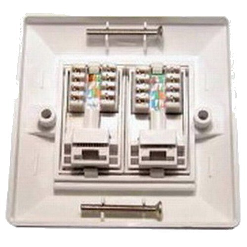 2 port cat 6 wall face plate amazon electronics asfbconference2016 Choice Image