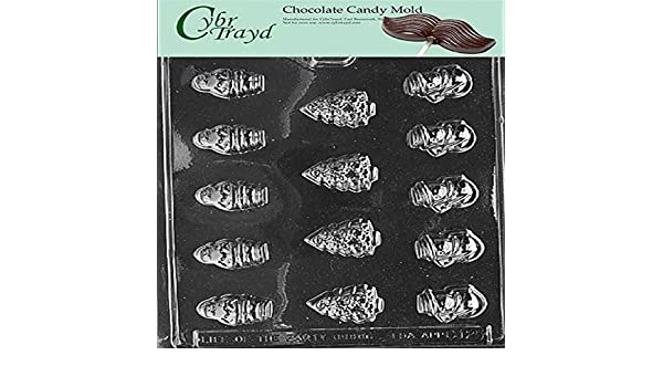 Assortment Cybrtrayd C009 Christmas Chocolate Candy Making Mold Bite Size