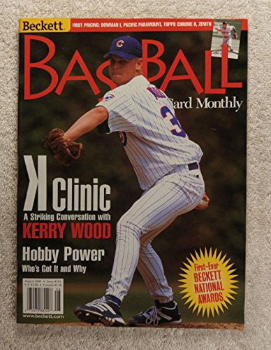 Kerry Wood - Chicago Cubs - K Clinic - Beckett Baseball Card Monthly - #161 - August 1998 Chicago Cubs Kerry Wood