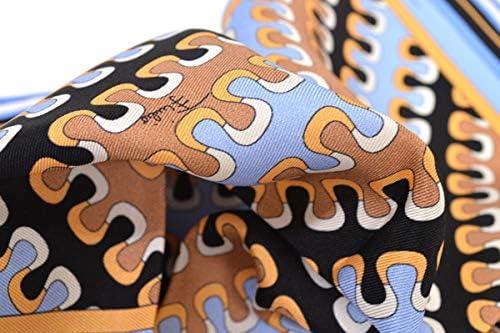 (エミリオプッチ)ポケットチーフ メンズ プッチ柄シルクポケットチーフ(サイズ32×32cm)eep19w149 ライトブルー