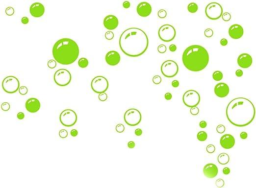 21 * 42 cm Verde Cuarto de ba?o ventana ducha Burbujas Pared Art ...