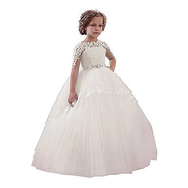 Amazon suiun dress birthday prom dress flower tulle little girl suiun dress birthday prom dress flower tulle little girl white blue dress first communion dress mightylinksfo