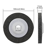 Yasorn 100mm Nylon Fiber Buffing Polishing Wheel Sanding Disc Set Grey Pack of 5 for Angle Grinders