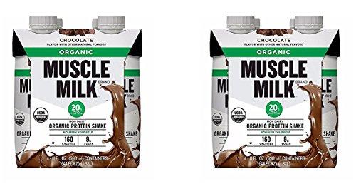 Muscle Milk Organic Chocolate Protein Shake 4, 11 Ounce B...