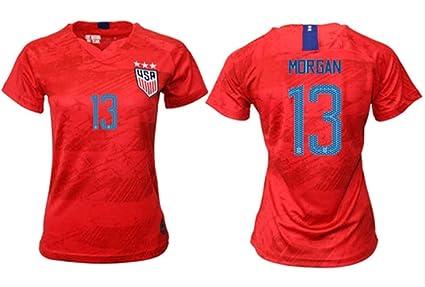 54e35e909 ZZXYSY Alex Morgan  13 2019-2020 USA National Team Women s Away Soccer  Jersey