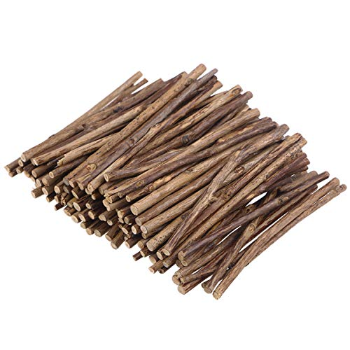 - LIOOBO Wood Log Sticks for DIY Crafts Photo Props 10CM Long 0.3-0.5CM in Diameter Pack of 100
