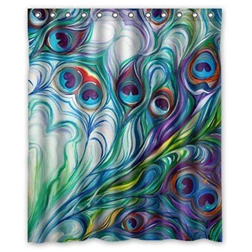 Shower Curtain 60 x 72 ,Tuscom Custom Fabric Waterproof Bathroom Shower Curtain (Style:B)
