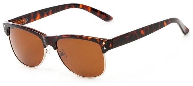 Polarizadas Gafas de sol Clubmaster estilo marco Flex ...