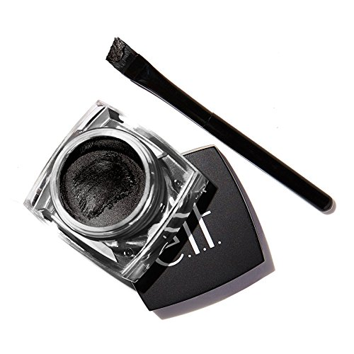 e.l.f. Cosmetics Cream Eyeliner for Smooth Lines That are Defined and Precise, Slanted Brush Included, Black