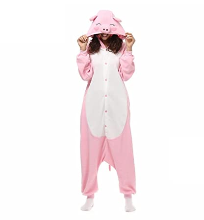 HYY@ Kigurumi Pajamas Cosplay / Piggy/Pig Leotard/Onesie Halloween Animal Sleepwear Pink