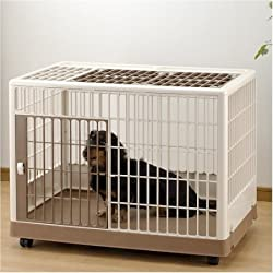 Richell Pet Training Kennel - Off White/