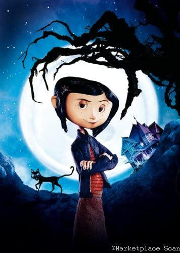 Amazon Com Coraline Movie Poster 24x36in Textless Prints Clothing