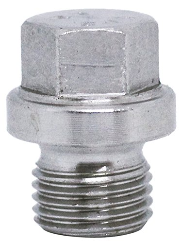 (2pcs) M10X1 Stainless Steel A2 Metric Flanged Hex Head Threaded Screw Plugs DIN 910 by BelMetric DP10X1.0HSS (1.00 Plug)