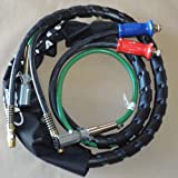7 way electrical cord - 12' 3-IN-1 WRAP - 7 WAY ELECTRICAL TRAILER CORD CABLE ABS & AIR LINE HOSES