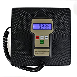 F2C Refrigerant Digital Electronic Charging Weight Scale 220 lbs for HVAC with Case by F2C