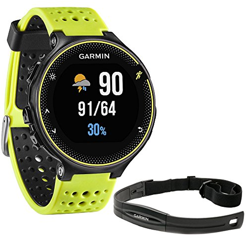 Beach Camera Garmin Forerunner 230 GPS Running Watch, Force Yellow (010-03717-50) with Heart Rate Monitor