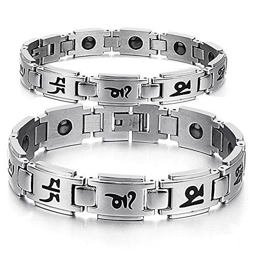Son ou le Sien Correspondant de Couple Titane Bracelet Magnétique Anti-fatigue, Anti-rayonnement dans une Boîte-Cadeau (Sa)