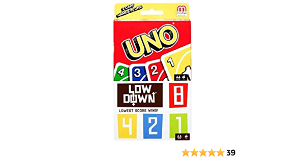 UNO /& Low Down 2 Games In 1 Card Game by Mattel