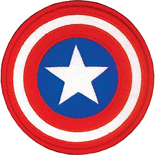 "Ata-Boy Marvel Comics Captain America Shield 3"" Full Color Iron-On Patch"