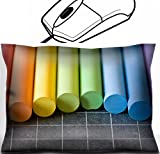 MSD Mouse Wrist Rest Office Decor Wrist Supporter Pillow design: 29926306 school supplies chalks on chalkbord closeup