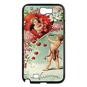 WJHSSB Diy Phone Case Cupid Cherub Pattern Hard Case For Samsung Galaxy Note 2 N7100