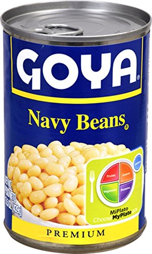 Canned Navy Beans (Goya Foods Navy Beans, 15.5 oz)