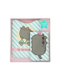 Official Retro Style Pusheen the Cat Passport and Luggage Tag Travel Set