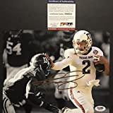 Autographed/Signed Johnny Manziel Heisman Trophy Texas A&M Aggies 8x10 Football Photo PSA/DNA COA #2