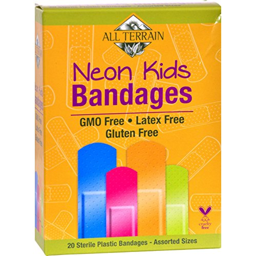 2 Pack of All Terrain Bandages - Neon Kids - Assorted - 20 Count - Gluten Free - by All Terrain