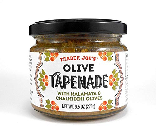 Trader Joes Olive Tapenade with Kalamata & Chalikidiki Olives Spread 9.5 Oz. (Single)