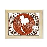 DIYthinker Thai Culture I Love Thailand Map Desktop Wooden Photo Frame Picture Art Painting 6x8 inch