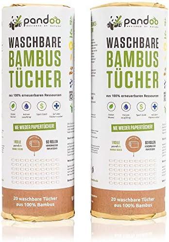 Umweltfreundliche Bambus-Küchenrolle 25 Tücher wiederverwendbar
