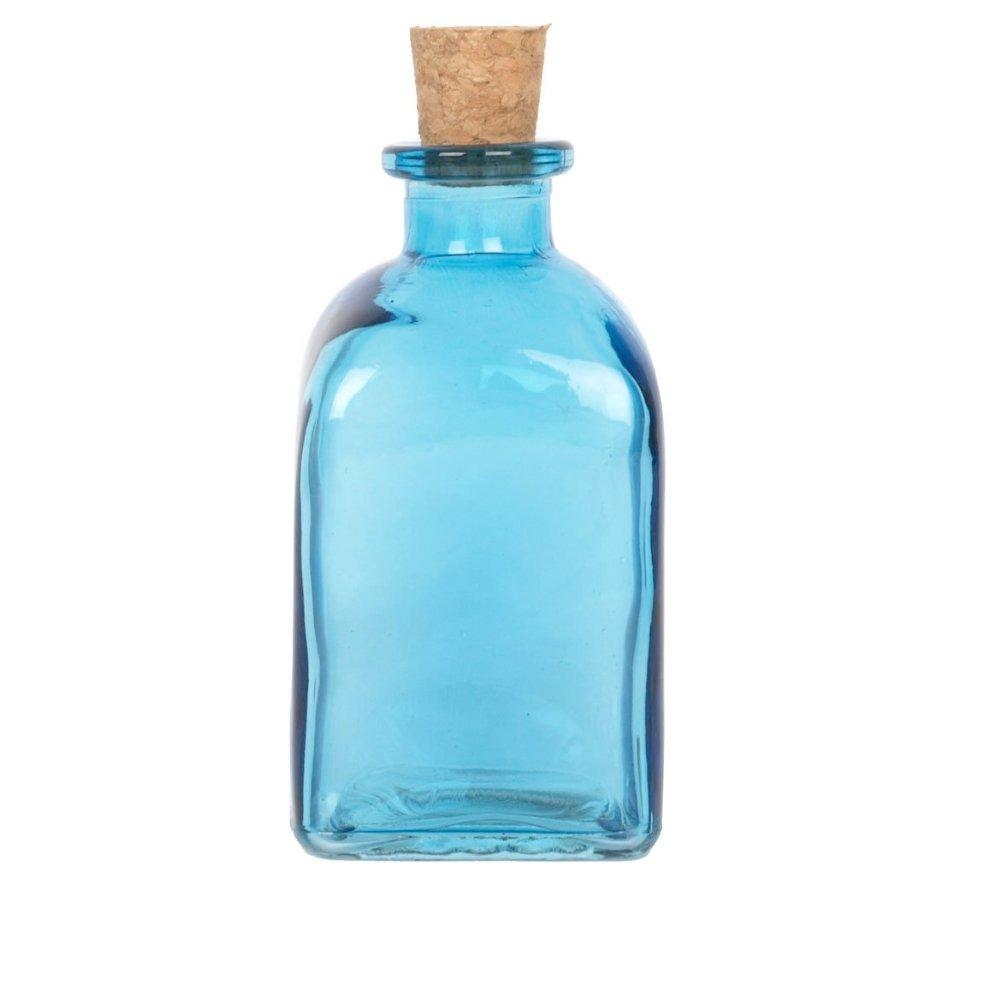 Aceite de oliva Outpost EVOO y vinagre dispensador Premium cristal 250 ml botella corcho natural (color azul): Amazon.es: Hogar