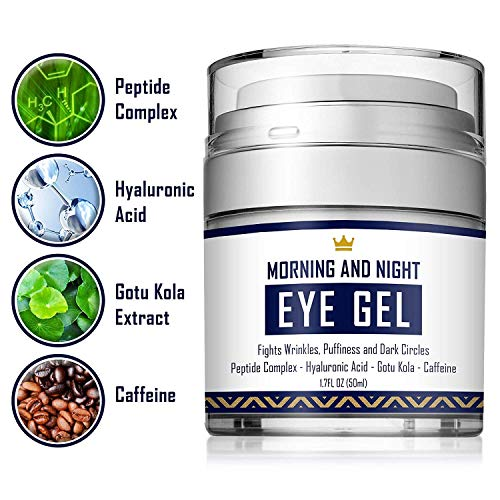 51N58AEzoLL - Eye Cream - Dark Circles & Under Eye Bags Treatment - Reduce Puffiness, Wrinkles - Effective Anti-Aging Eye Gel with Hyaluronic Acid, Gotu Kola Extract and Caffeine - Refreshing Serum