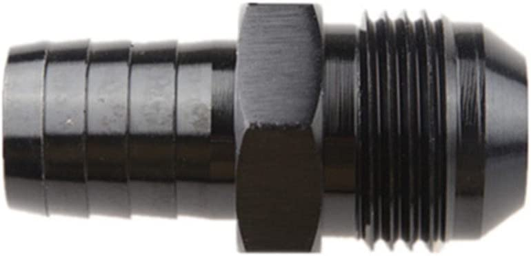 4AN AN4 Male To 6mm Straight Hose Barb Fuel Fitting Adapter Black