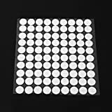 MinXiao 99Pcs Self Adhesive Dots Nylon Patches Sticker Double Sided Adhesive Magical Tape Terylene Cloth