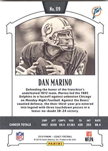 Amazon.com: 2019 NFL Legacy #119 Dan Marino Miami Dolphins ...