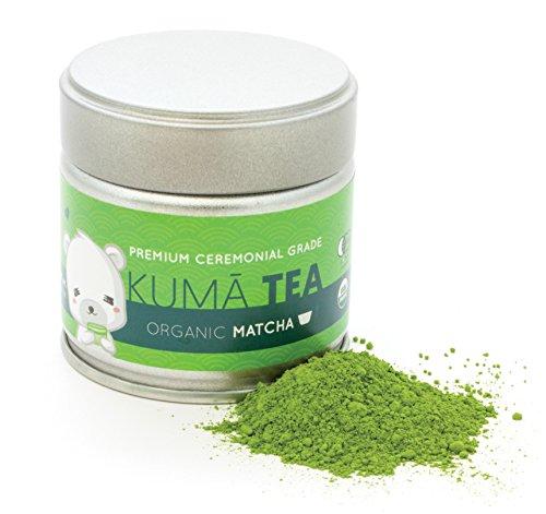 Kuma Tea - Organic Japanese Matcha Green Tea Powder - Premium Ceremonial Grade (30g) by Kuma Tea
