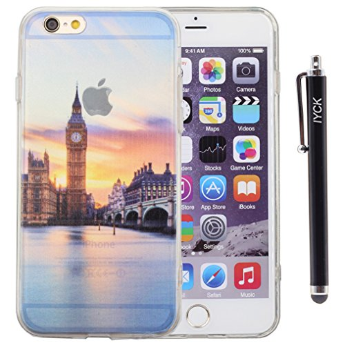 iPhone 6 Case, iPhone 6S Case, iYCK Hybrid TPU Bumper + Hard Back Panel Seamless Integrated Shock-Absorbing Protective Shell Case Cover for Apple iPhone 6 / 6S 4.7 inch Screen - London Big Ben
