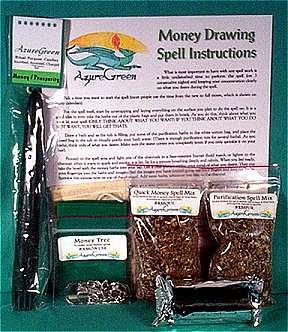 Ritual Spell Kit: Money - Kit Ritual Drawing Money
