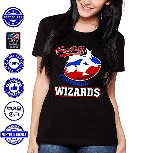 Fantasy Football Wizards Funny Magician Halloween Costume Handmade T-Shirt Hoodie Tank Top Sweatshirt Long -