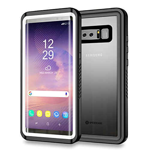 Samsung Galaxy Note 8 Waterproof Case, SPIDERCASE Shockproof Snowproof Dustproof Underwater Full sealed IP68 Certified Waterproof Case with Built-in Screen Protector for Samsung Galaxy Note 8